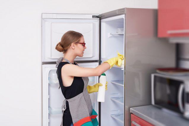 råd till att rengöra kyl